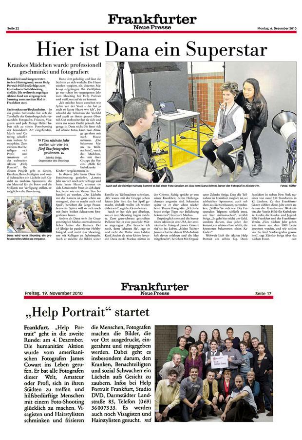 Help Portrait 2010 - Frankfurter neue Presse